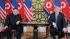 Nordkoreas Machthaber Kim Jong Un (links) und US-Präsident Donald Trump.
