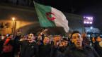 Demonstration gegen die Kandidatur von Präsident Abdelaziz Bouteflika in Algier, Algerien.