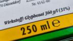 Die Verpackung eines Unkrautvernichtungsmittel, das den Wirkstoff Glyphosat enthält.