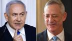 Regierungschef Benjamin Netanjahu (links) und Ex-Generalstabschef Benny Gantz.