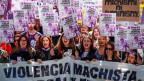 Demonstrationen zum Internationalen Frauentag in Madrid.