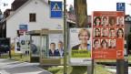 Wahlplakate in der Zürcher Agglomeration.