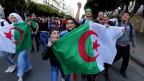 Demonstranten in Algier.