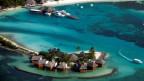 Ferienresort auf den Malediven.