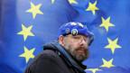 Dieser Mann protestiert für den Verbleib in der EU.