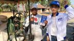 Bewohner eines kleinen Bauerndorfes ausserhalb der Stadt Chiang Mai in Thailand.