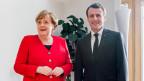 Frankreichs Präsident Emmanuel Macron und Bundeskanzlerin Angela Merkel am EU-Gipfel in Brüssel am 21. März 2019.
