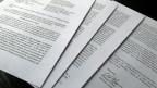 Die Unterschrift des US-Generalstaatsanwalts William Barr am Ende seines vierseitigen Briefs an die US-Kongressführer zu den Schlussfolgerungen des Berichts des Sonderberaters Robert Mueller über die Einmischung Russlands bei den Wahlen 2016.
