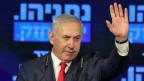 Der israelische Premierminister und Vorsitzender der Likud-Partei, Benjamin Netanyahu an einer Wahlkampfveranstaltung.