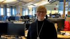 Die Direktorin des öffentlich-rechtlichen samischen Rundfunks Mona Solbakk.