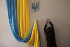 In einem Wahllokal in Kiew