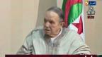 Bild des staatlichen TV-Senders ENTV des algerische Präsident Abdelaziz Bouteflika im Rollstuhl. Der algerische Präsident trat am Dienstag nach 20 Jahren zurück.