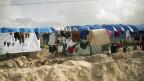 Lager für Vertriebene in der Nähe von Baghouz in Syrien.