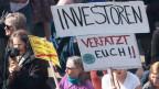 Demonstration gegen hohe Mieten in Berlin.