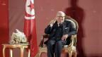 Der tunesische Präsident Beji Caid Essebsi Samstag, dem 6. April 2019, in Tunesien. Der 92-jährige kündigte an, dass er nicht für die Wahlen im November kandidieren wird.