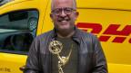 Amjad Tadros mit seinem Emmy, der Trophäe, die er im vergangenen Oktober zusammen mit einem Team des amerikanischen Fernsehsenders CBS gewonnen hatte.