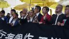 Prozess gegen Anführer der «Regenschirm-Bewegung» in Hongkong.
