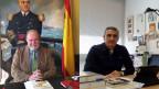 Juan Chicharro, ehemaliger General und Manuel Ortiz, Professor an der Universität in Albacete.