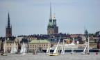 Blick auf den Stockholmer Hafen