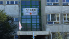Streik-Plakat an einer Warschauer Schule.