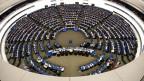 Plenarssaal des Europäischen Parlaments in Strassburg.