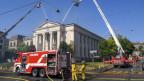 Der Brand von Notre-Dame weckt Erinnerungen in Genf: Im Juli 2018 brannte dort die Sacré-Coeur Kirche.
