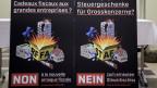Plakate zur Lancierung der Abstimmungskampagne STAF.