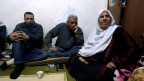 Eine palästinensische Flüchtlingsfamilie im palästinensischen Al-Baqaa-Flüchtlingslager nahe Amman, Jordanien.