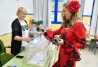 In einem Wahllokal in Andalusien
