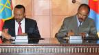 Eritrea-Präsident Isaias Afwerki (rechts) und Äthiopiens Premierminister Abiy Ahmed im Juli 2018.
