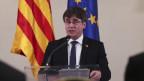 Das Bild zeigt den früheren Regionalpräsidenten Kataloniens Carles Puigdemont.