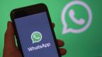 Der Whatsapp-Messengerdienst auf einem Handy.