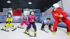 Kinder in der Skischule. Von Chinas Gesamtbevölkerung fährt nur ein Prozent Ski.