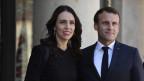 Die neuseeländische Premierministerin Jacinda Ardern und der französische Präsident Emmanuel Macron in Paris am 14. Mai 2019.