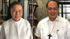 Ordensschwester Mary und Bischof Pablo Virgilio David.
