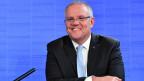 Der australische Premierminister Scott Morrison in Canberra, Australien.