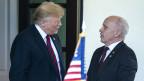 US-Präsident Donald J. Trump (links) begrüsst den Bundespräsidenten Ueli Maurer vor dem Weissen Haus in Washington am 16. Mai 2019.