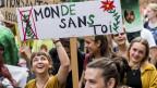 Demonstration gegen Chemieunternehmen in Morges.
