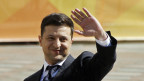 Wolodymyr Selensky, der neue Präsident der Ukraine vor seinem ersten Auftritt im Parlament.