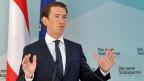 Medienkonferenz: Der österreichische Bundeskanzler Sebastian Kurz nimmt Stellung.