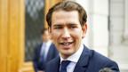 Sebastian Kurz, Ministerpräsiden von Österreich auf dem Weg zur Medienkonferenz, wo er sich zur Regierungskrise äussert.