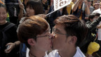 Ein homosexuelles Paar in Taiwan.