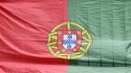 Die Fahne von Portugal.