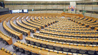 Plenarsaal im Europaeischen Parlament in Bruessel.
