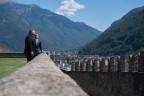 Bundesrat Cassis zeigt Pompeo die Burg von Bellinzona