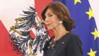 Brigitte Bierlein nach ihrer Vereidigung - «Angelobung» heisst das in Österreich.