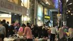 Kleidermarkt in Amman.