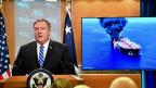 US-Aussenminister Mike Pompeo macht Iran für die beiden Angriffe im Golf von Oman verantwortlich.
