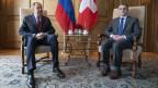 Sergey Lawrow, russischer Aussenminister und Iganzio Cassis, Schweizer Aussenminister.