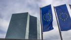Gebäude der Europäischen Zentralbank EZB in Frankfurt am Main, Deutschland.